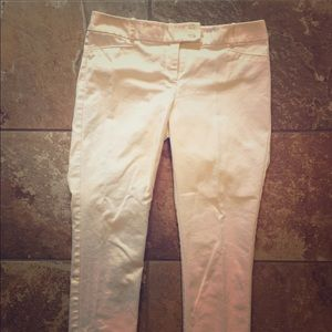 EUC The Limited White Crop Pants